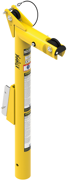 914 millimetre heigh mast and davit arm with 229 millimetre reach
