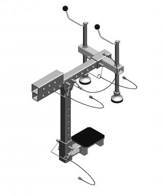 C-clamp adapter for hitch mount (short mezzanine)