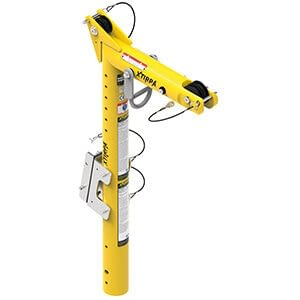 Davit arm with built in mast with height of 920 millimetres
