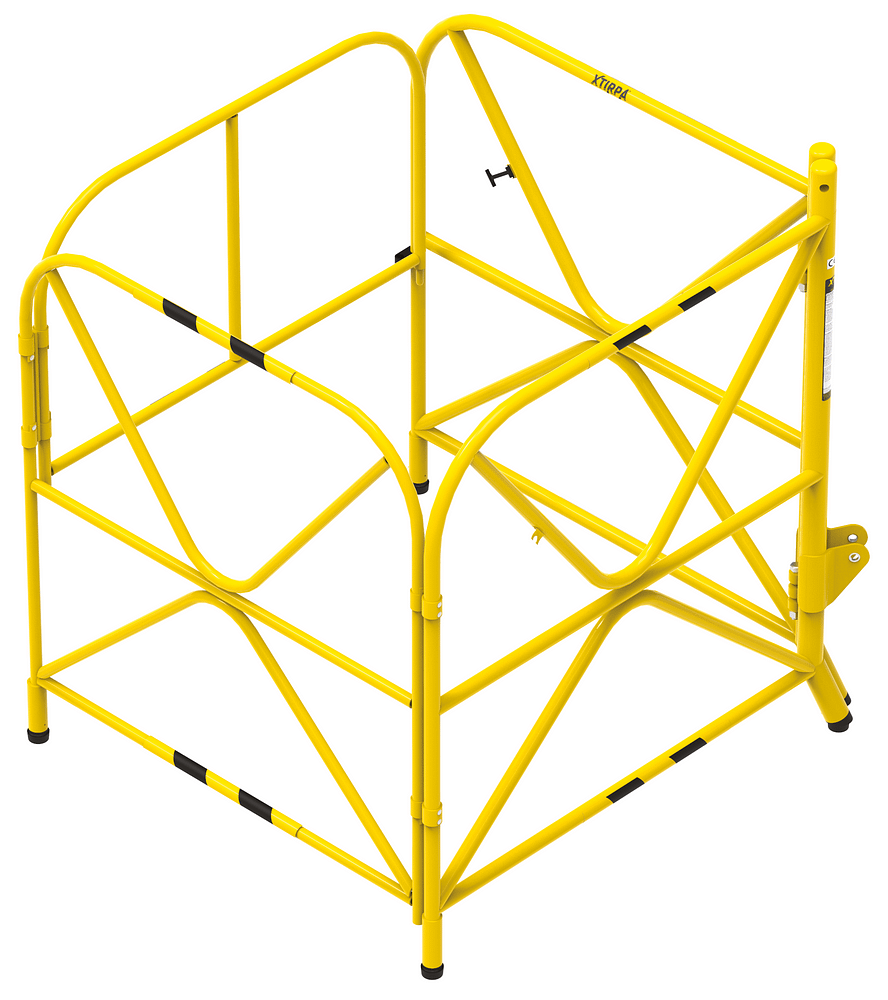Manhole guard with integrated mast