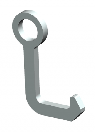 Xtirpa medium square hook (low profile) for manhole cover lifter
