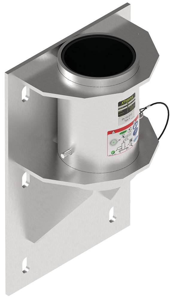 Wall mount adapter for concrete or steel