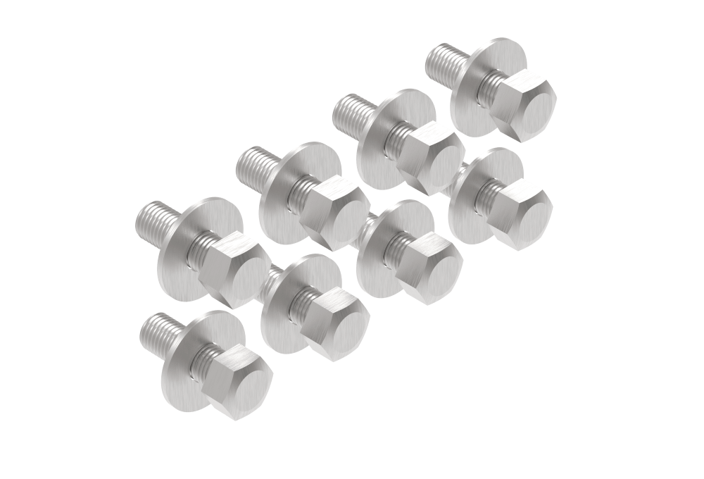 set of 8 bolts with washers