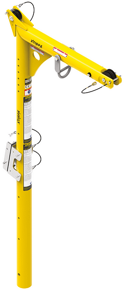 1606 millimetre heigh mast and davit arm with 610 millimetre reach