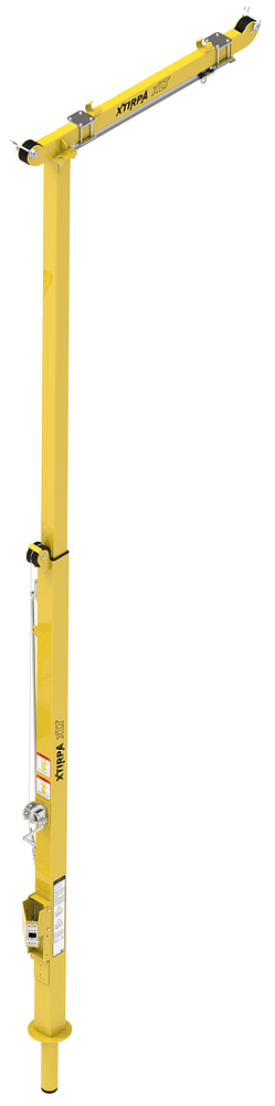 4572 to 7620 millimetre adjustable mast and davit arm for XLT system