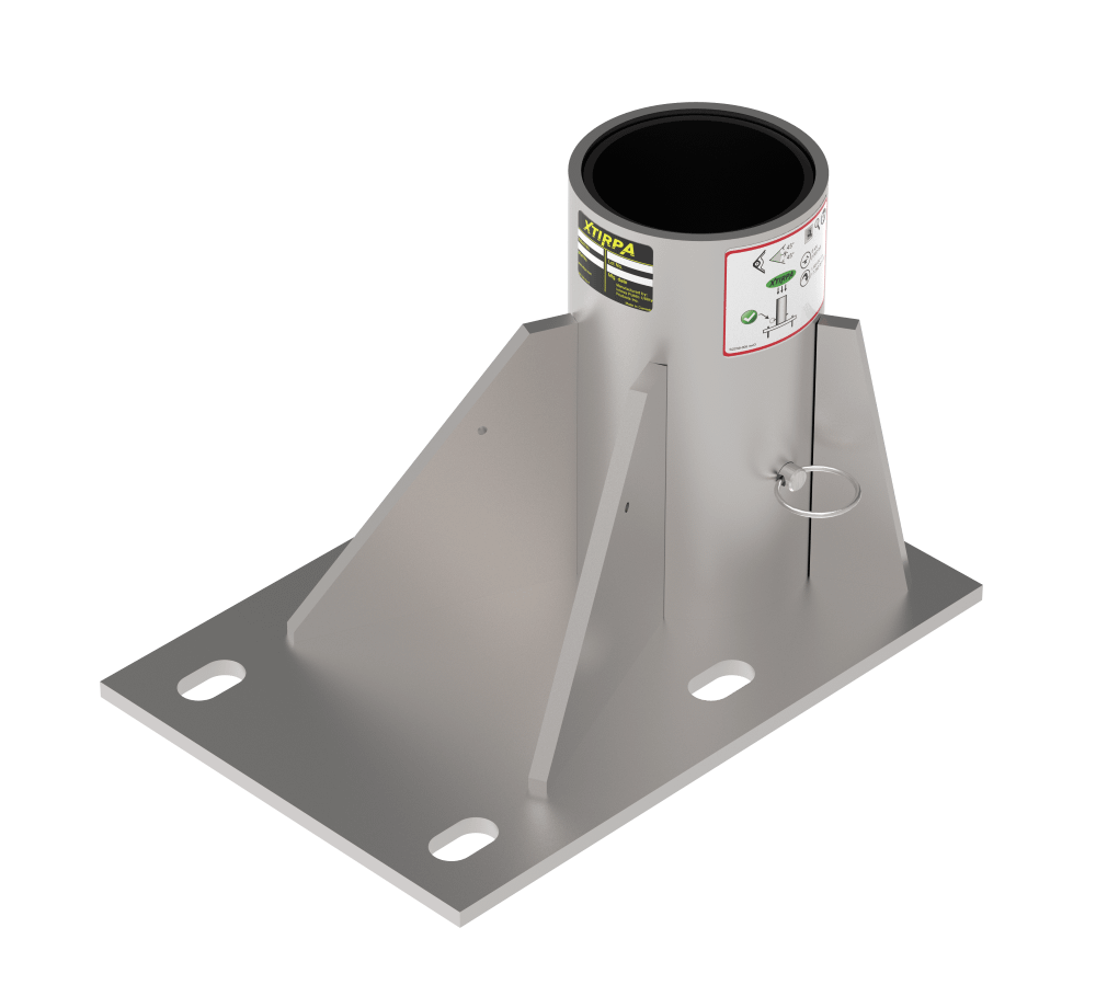 offset floor socket for confined space access