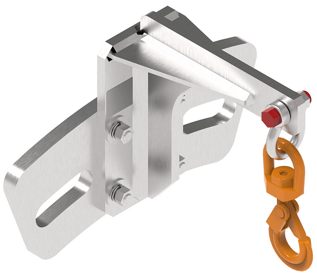 Flange adapter for lateral confined space entry
