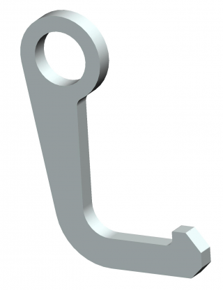 Xtirpa hook for 11/4 inch hole, for manhole cover lifter