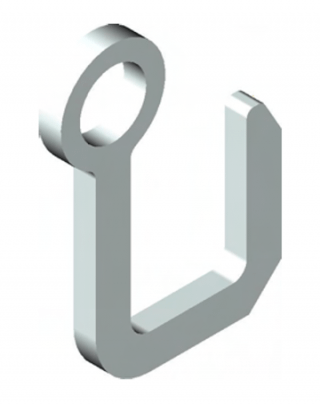 Xtirpa medium square hook (high profile) for manhole cover lifter