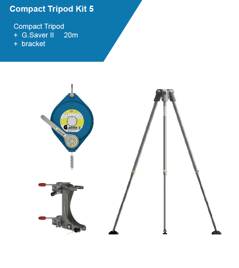 compact tripod kit with blue SRL