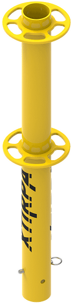 Attachment mast for anchor device for drilling