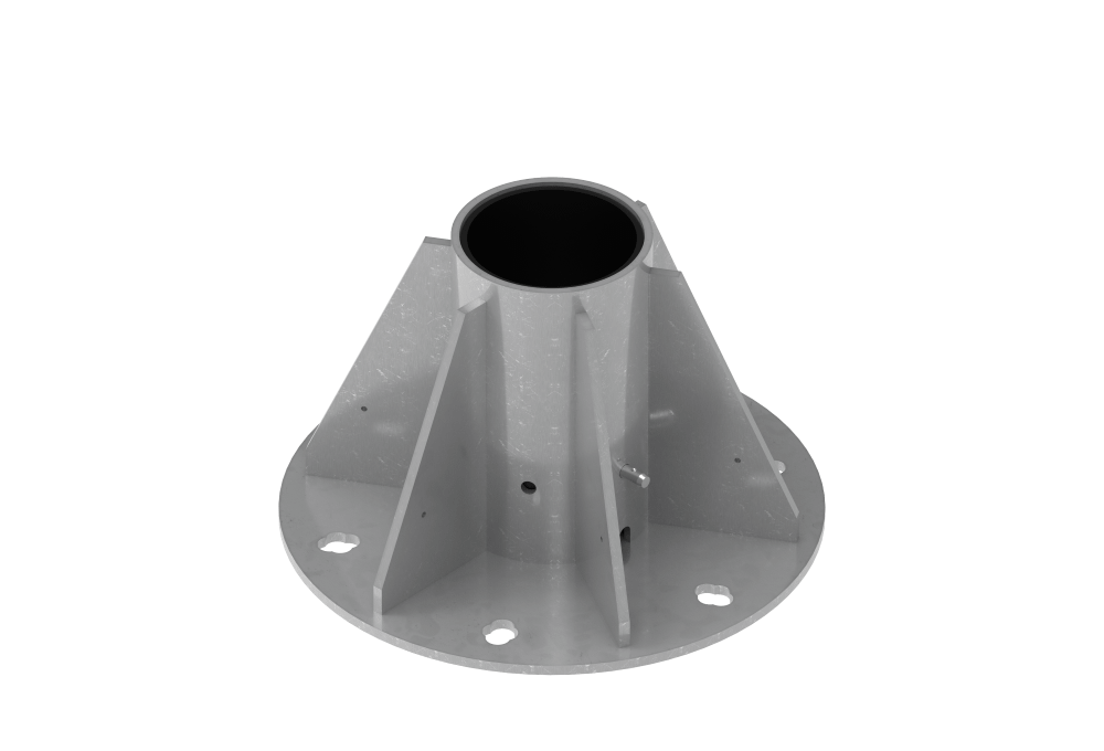 floor mount fitting for xtirpa davits
