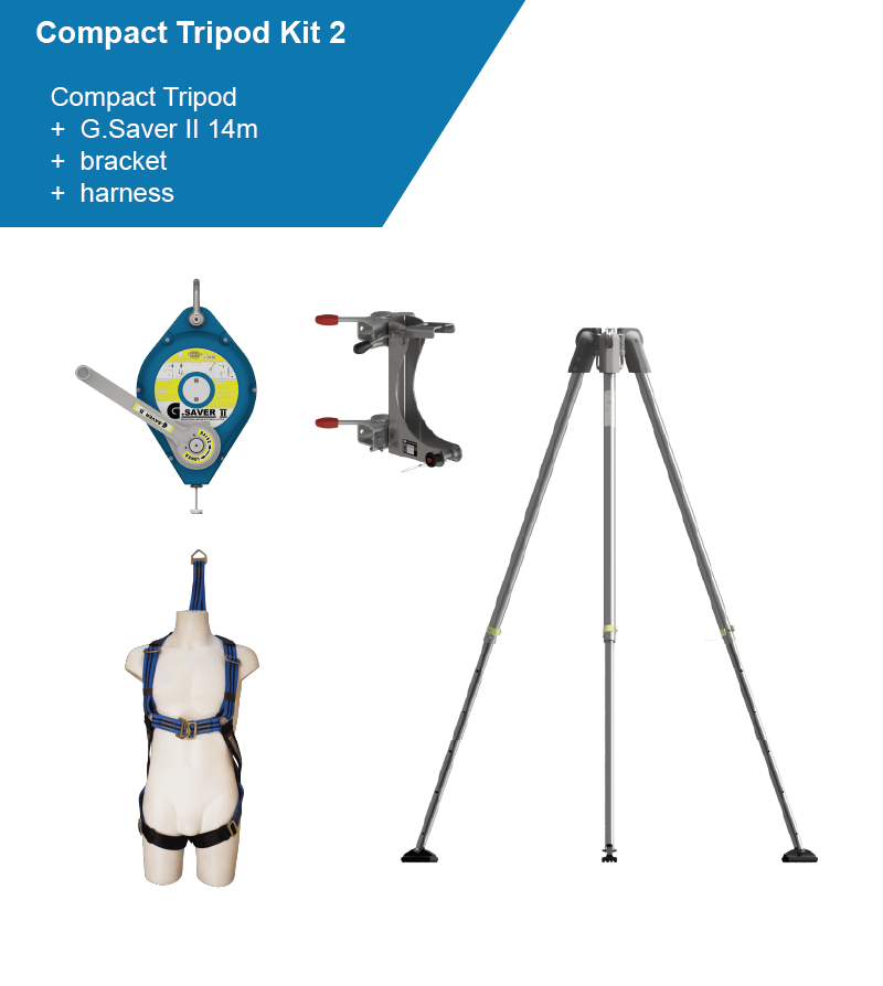 tripod kit with arrester and harness